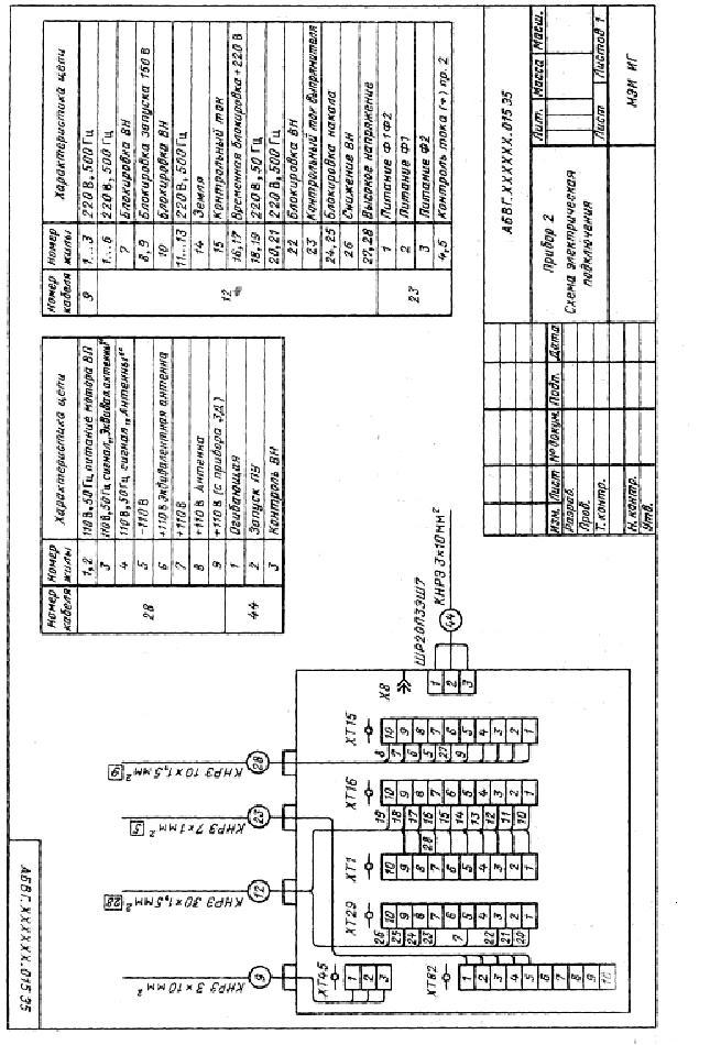 Прибор ПА. Схема электрическая