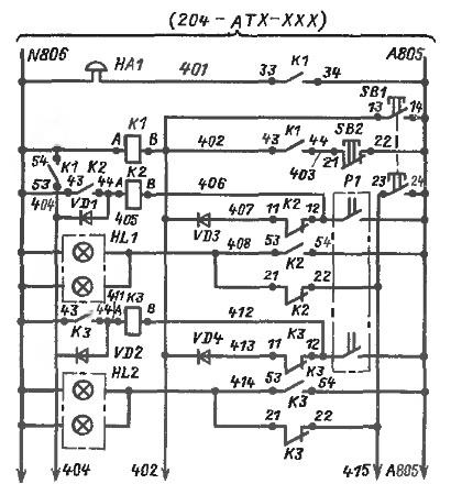 Электро схема стандартной квартиры.  Указанным образом выделено устройство а1.